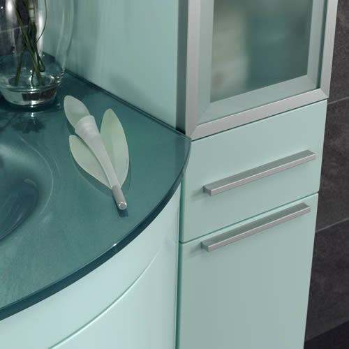 ital badm bel glas waschtisch metallic hochschrank neu ebay. Black Bedroom Furniture Sets. Home Design Ideas