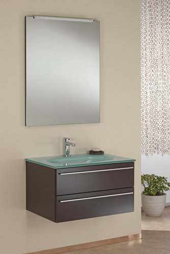 italienischer design glas waschtisch g ste wc wenge neu ebay. Black Bedroom Furniture Sets. Home Design Ideas