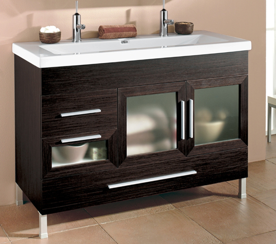 ital doppel waschtisch badm bel spiegelschrank holz neu ebay. Black Bedroom Furniture Sets. Home Design Ideas