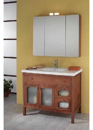 ital waschtisch badm bel spiegelschrank swing holz neu ebay. Black Bedroom Furniture Sets. Home Design Ideas
