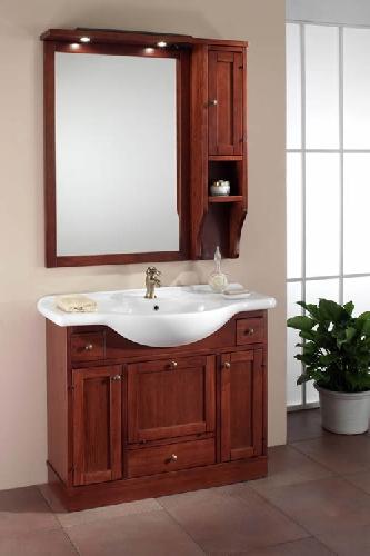 italien waschtisch holz mediterran keramik badm bel neu. Black Bedroom Furniture Sets. Home Design Ideas