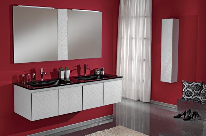 Ital badm bel set glas doppel waschtisch damascato neu ebay for Doppelwaschbecken 160 cm