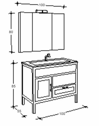 Comité exécutif. lavabo salle de bains verre wengé armoire à