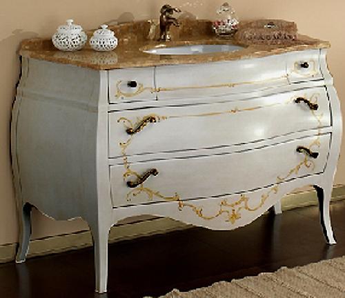 Ital. Waschtisch Badmöbel-Set Barock Dekor Marmor NEU | eBay | {Waschtisch antik marmorplatte 67}