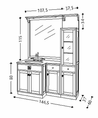 pin details zu italien waschtisch holz mediterran marmor. Black Bedroom Furniture Sets. Home Design Ideas